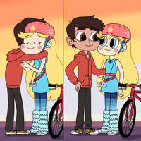 Star and Marco are hugging again and again by Deaf-Machbot