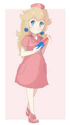 Princess Peach - Nurse Peach by chocomiru02