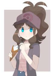 Pokemon - Casual Hilda (Redraw) by chocomiru02