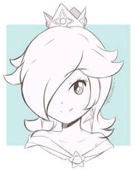 Smash Bros Ultimate - Rosalina Headshot (Sketch) by chocomiru02