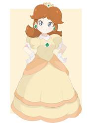 Princess Daisy - Light Sketch (Full Body Ver.) by chocomiru02