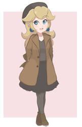 Princess Peach - Winter (Colored Sketch) by chocomiru02
