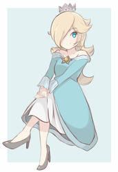 Princess Rosalina - (Colored Sketch) by chocomiru02