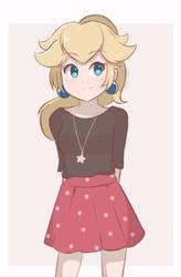 Princess Peach - Ponytail Peach by chocomiru02