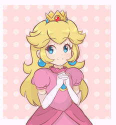 Princess Peach - Half Body (2019) by chocomiru02