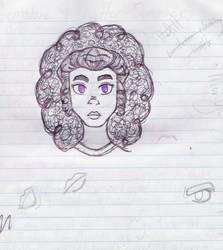 Deliah in Pen by goldenpurplefreak