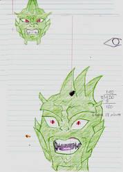 Inky Dragon by goldenpurplefreak