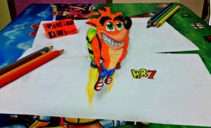 Crash Bandicoot 3D drawing by HR7xMan
