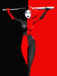 Harley Quinn (Body Paint ver) by mattytuck
