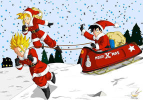 Dragon Ball - Gohan 52 (All teen christmas) by songohanart