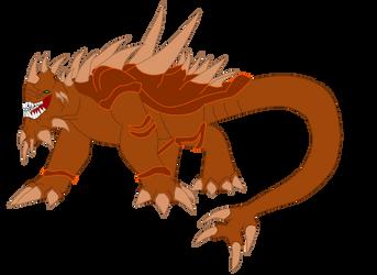 KAIJU tristar anguirus by MegaZygarde