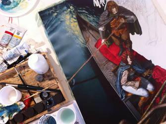 Work in progress of 'Itinerari segreti' by RiccardoFedericiArt