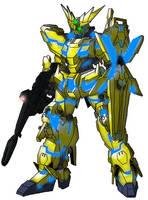 RX-0 Unicorn Gundam Phenex (Destroy mode) by unoservix
