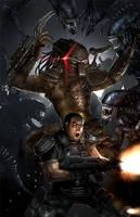 Aliens Vs. Predator. by itchytwitch