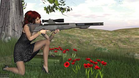 Sniper in black by BaronEkum