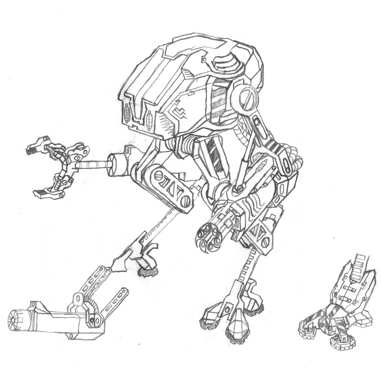 Mech.005.Assault Walker by scetxr-efx