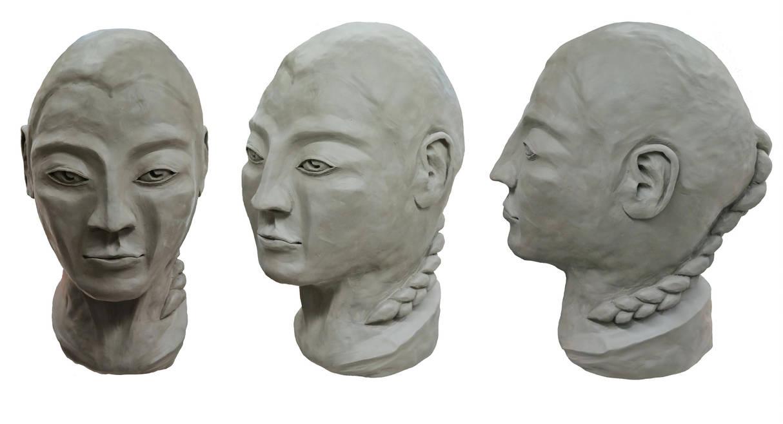 Female Bust Sculpture by scetxr-efx