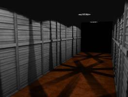 Industrial Hallway Render by scetxr-efx
