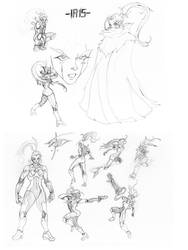 Character Sketches: IRIS by GiantBrobot