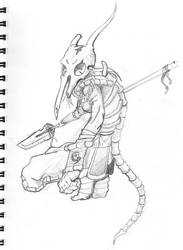 Character Sketches: D.Hunter1 by GiantBrobot