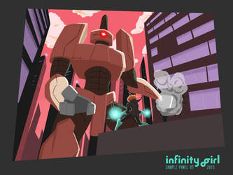 Infinity Girl Sample Page by GiantBrobot