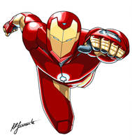 Iron Man Mark 51 in color by moonfletcher1983