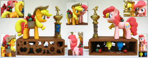 Applejack and Pinkie Pie by renegadecow