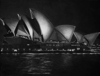Sydney Opera House (Drawing) by l--unbound--l