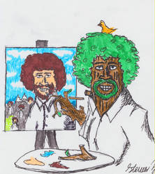 Painting Bob Ross with Happy Little Trees by CrimsonHussar