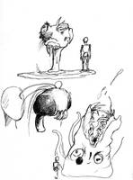 Random monsters by Kridxen