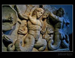 War between gods and Titans by Hermetic-Wings