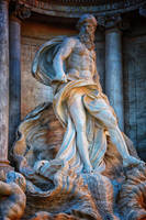 Oceanos the Titan of Trevi Fountain by Hermetic-Wings