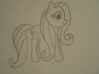 Fluttershy Sketch attempt 2 by lost-in-wonderlandd