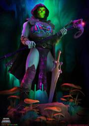 MOTU Cosmic Tales: Armored Skeletor by WolfKroger74