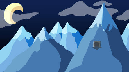 Mountain Background (Night) by Crispface
