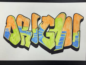 Origami Graffiti by Origami1105