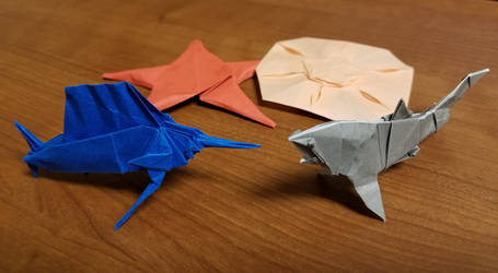 Origami Sea Life by Origami1105