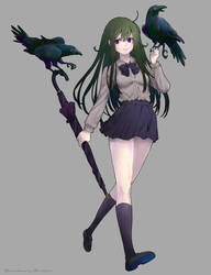 Crow girl by soutatsu123
