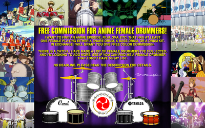 Drummer Girl(s) = Free Art Commission by DrummingOni
