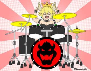 Drummerette Bowsette by DrummingOni