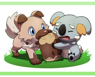 Iwanko and Nekkoala by kelvin-trainerk
