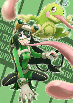 Froppy and Politoed by kelvin-trainerk