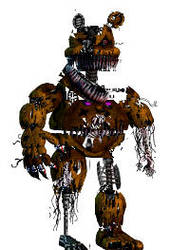Withired nightmare fredbear by chicafan17
