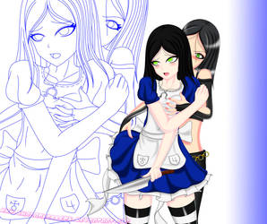Alice X X-23 Ecchi Part 3 Colored by ShaianWillems
