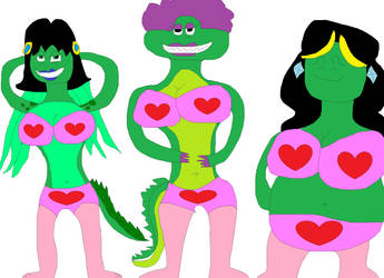 Gator gals Valentines ligeries by Koleyl