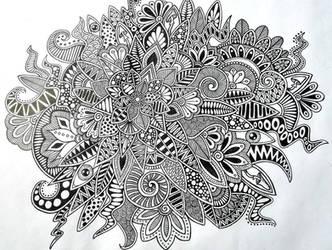 zentangle by Tatyanka-Gunchak