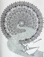 paper ship by Tatyanka-Gunchak