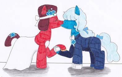 MLP Ruby and Sapphire Marriage by OkamiRyuu1993