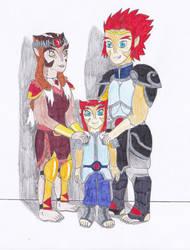 Lion-O, Pumyra and Leah (Requested) by OkamiRyuu1993