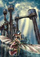 Escape this steampunk city by ftourini